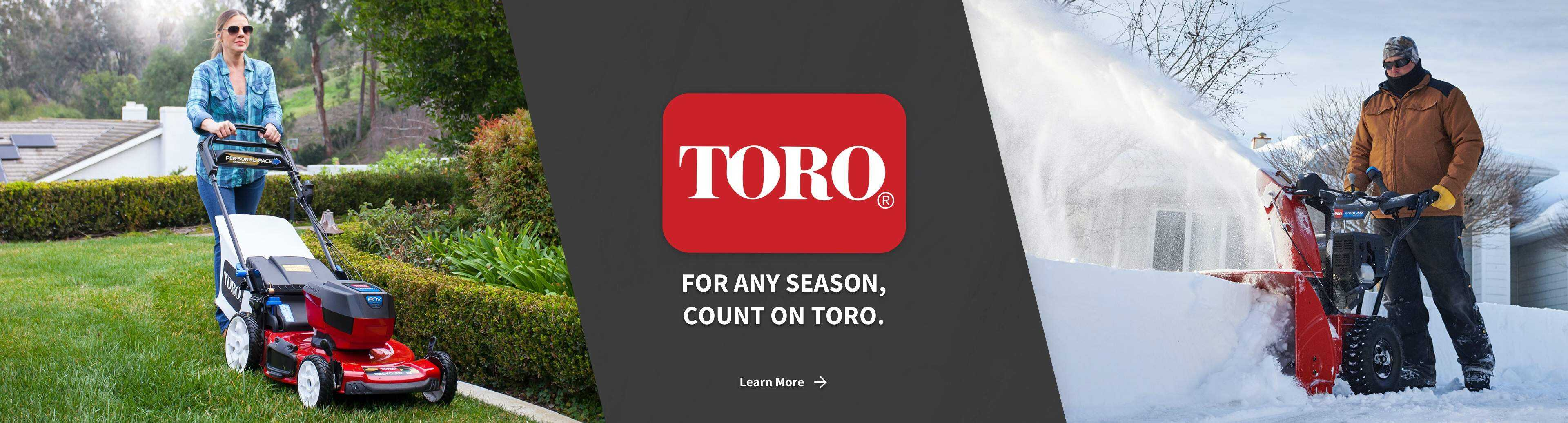 Toro push lawn mower and snow blower with Toro lawn mower - For Any Season, Count On Toro - Learn More