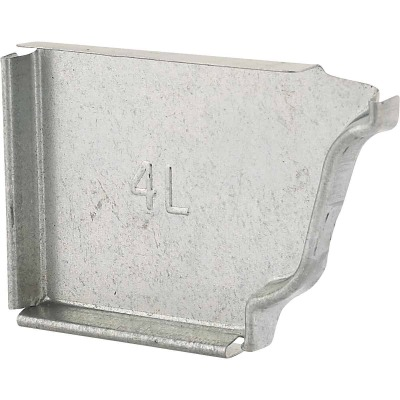 NorWesco 4 In. Galvanized Left Gutter End Cap