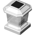 Deckorators 4 In. x 4 In. White Rechargeable Solar Light Image 1