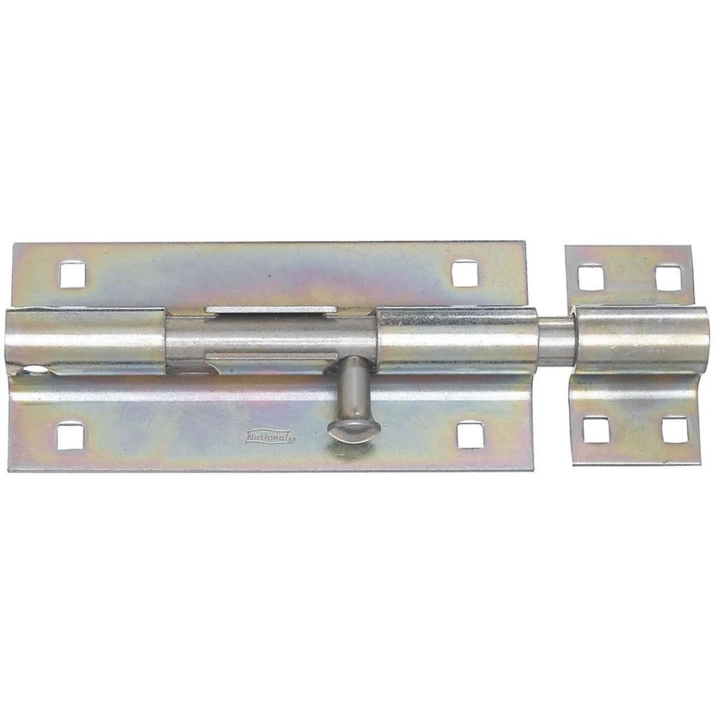National 8 In. Zinc Extra Heavy-Duty Door Barrel Bolt Image 1