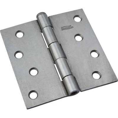 National 4 In. Square Plain Steel Broad Door Hinge