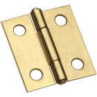 National 1-1/2 In. Brass Tight-Pin Narrow Hinge (2 Count) Image 1
