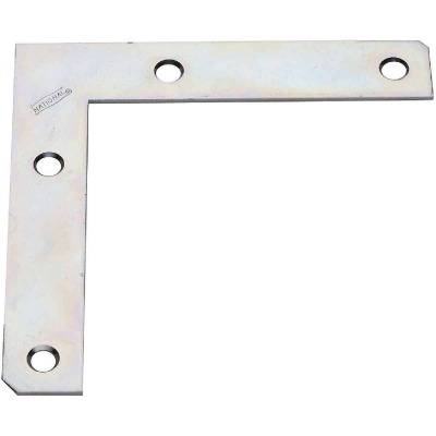 National Catalog 117 5 In. x 7/8 In. Zinc Flat Corner Iron