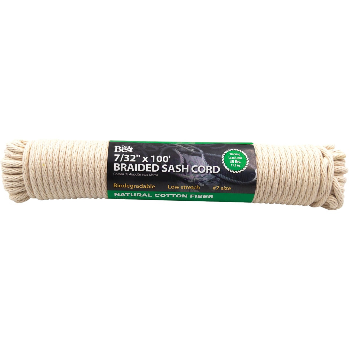 Do it 7/32 In. x 100 Ft. White Solid Braided Cotton Sash Cord Image 1