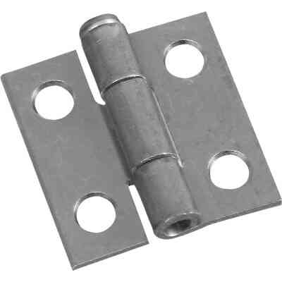 National 1 In. Zinc Loose-Pin Narrow Hinge (2-Pack)