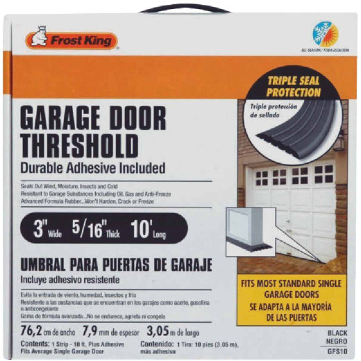 Do it 3 In. x 10 Ft. Black Rubber Threshold Garage Door Seal