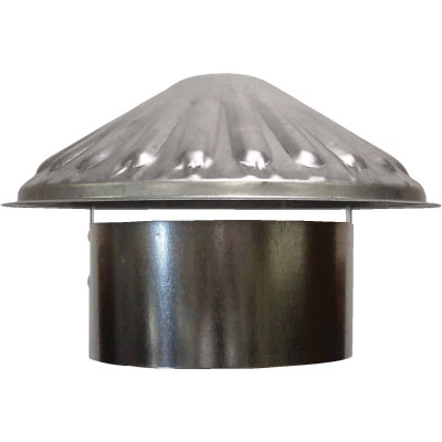 S & K Galvanized Steel 6 In. x 9-1/2 In. Vent Pipe Cap