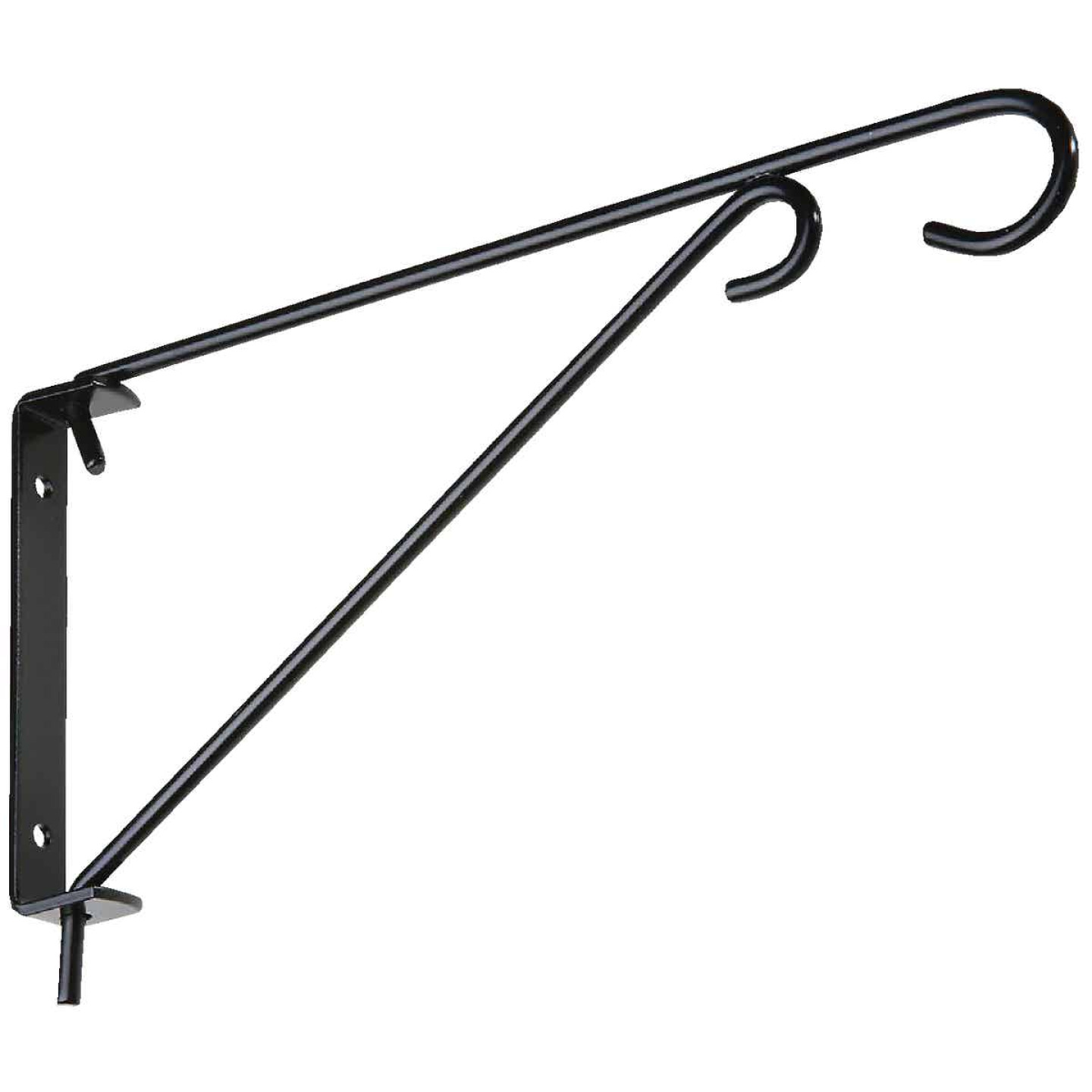 National 9 In. Black Steel Swivel Hanging Plant Bracket Image 1