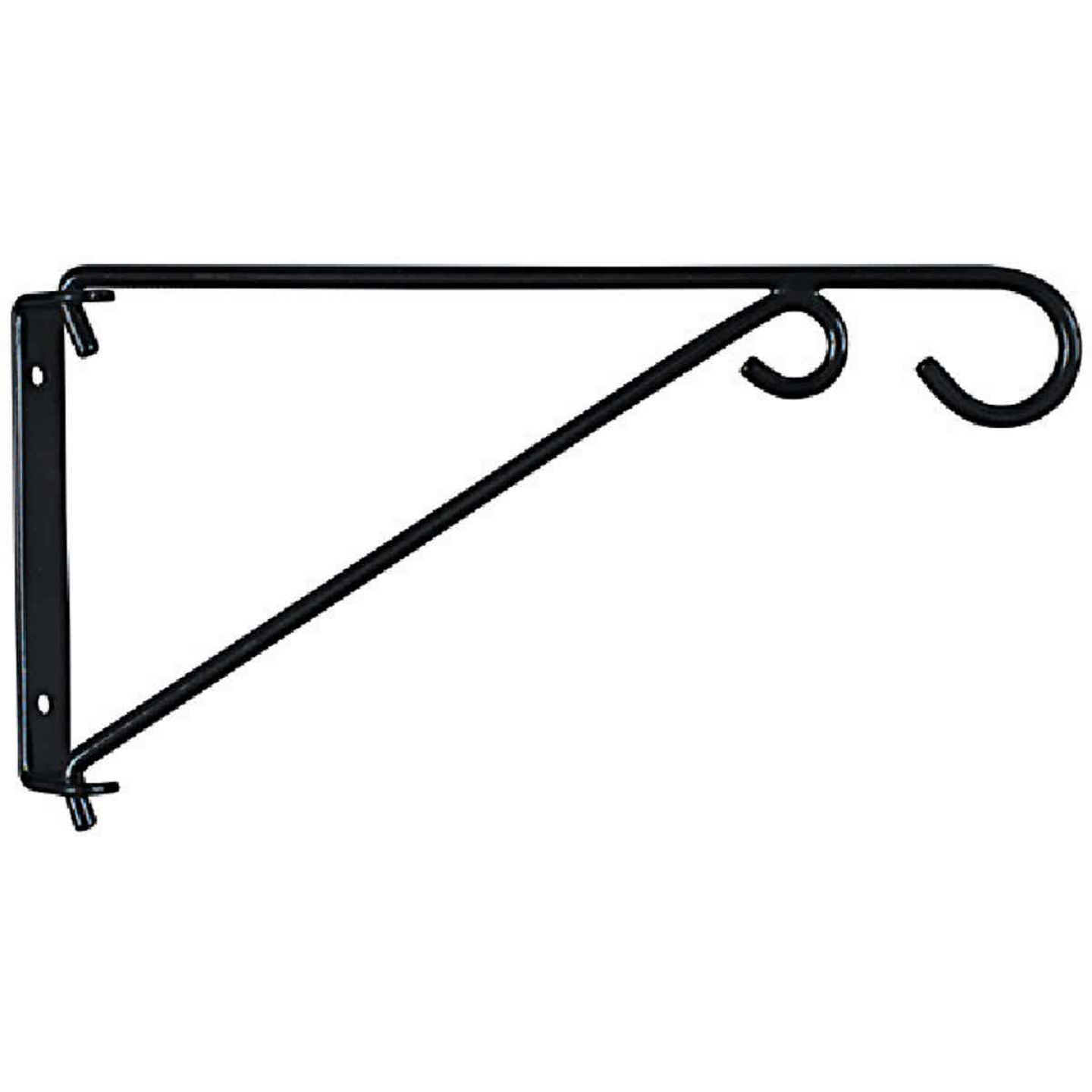 National 9 In. Black Steel Swivel Hanging Plant Bracket Image 3