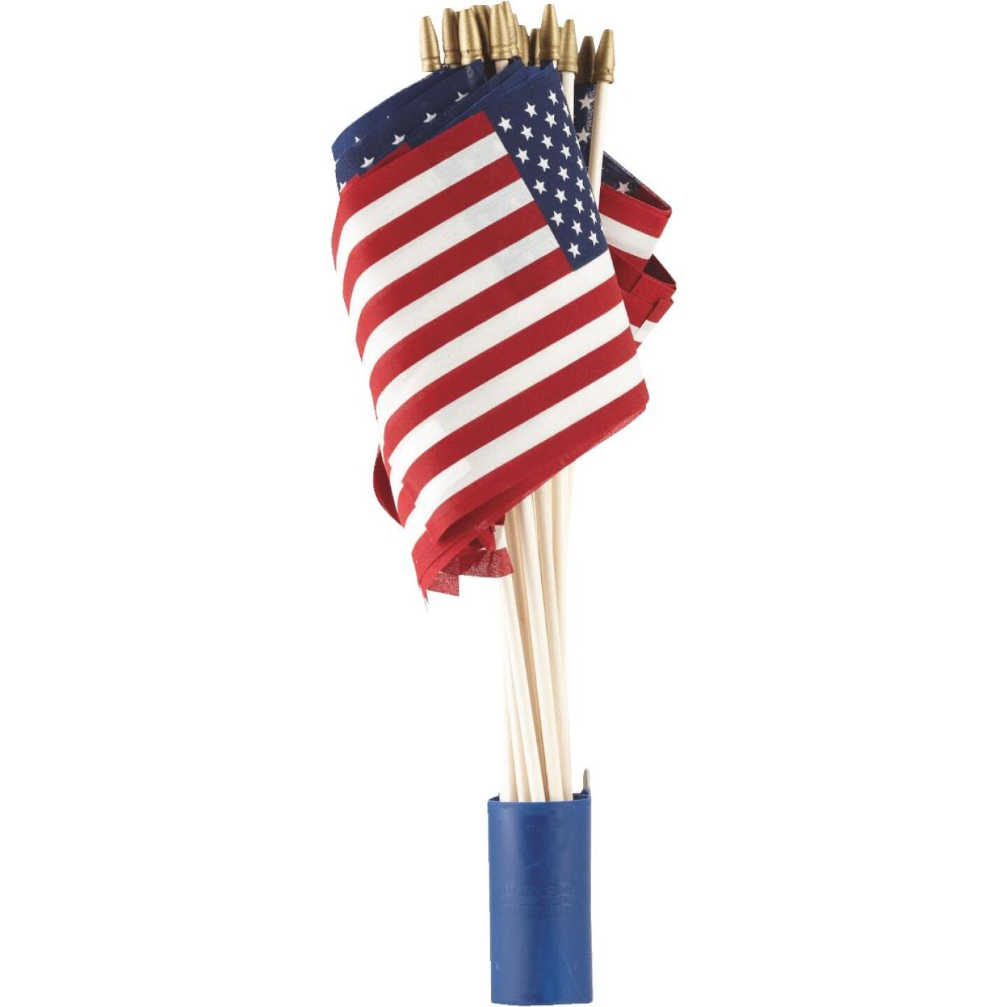 Valley Forge 8 In. x 12 In. Polycotton Stick American Flag Image 3
